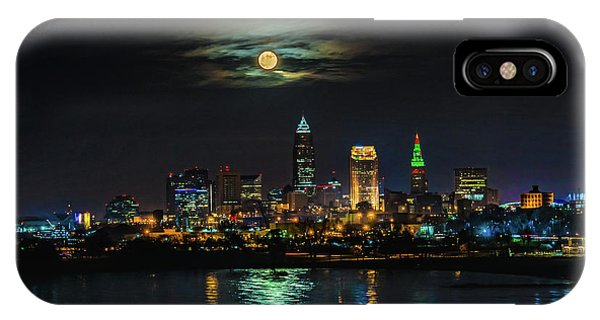 Super Full Moon Over Cleveland IPhone Case