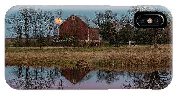 Super Moon And Barn Series #1 IPhone Case