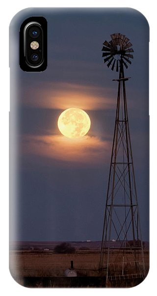 Super Moon And Windmill IPhone Case