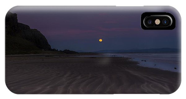 Super Moon At Downhill Beach IPhone Case