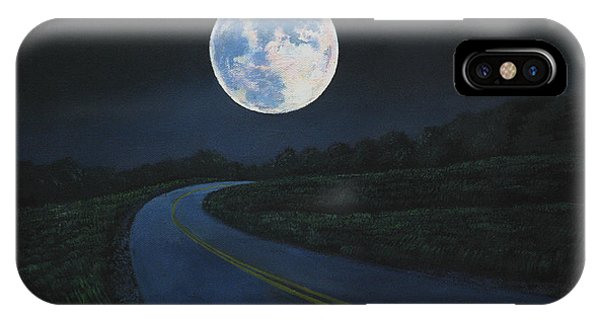 Super Moon At The End Of The Road IPhone Case