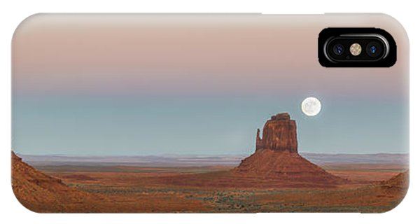 Super Moon In Monument Valley IPhone Case