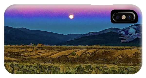 Super Moon Over Taos IPhone Case