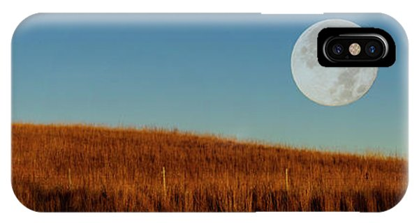 Super Moon Over The Prairie IPhone Case