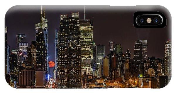 Super Moon Rising IPhone Case