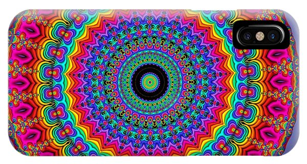 Super Rainbow Mandala IPhone Case
