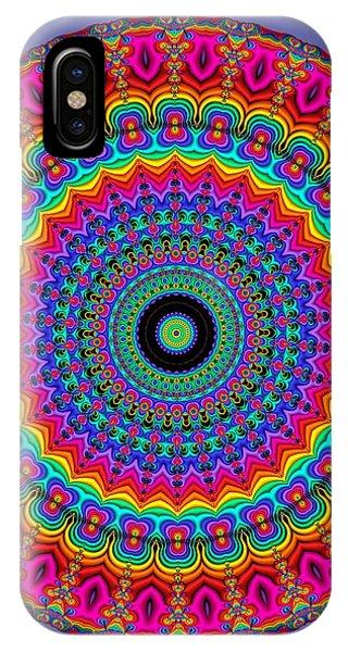 Super Rainbow Mandala IPhone Case