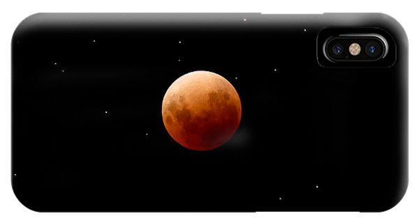 Super Red Blue Moon Eclipse IPhone Case