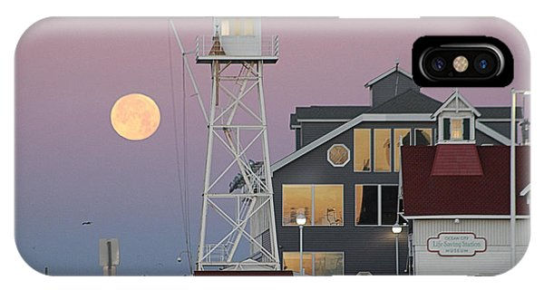 Super Wolf Moon At The Watch Tower IPhone Case