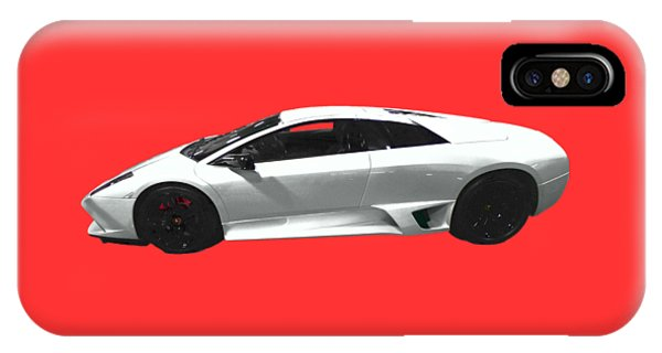 Supercar In White Art IPhone Case