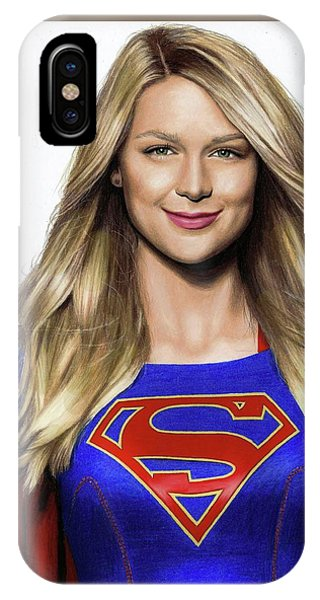 Supergirl Drawing IPhone Case