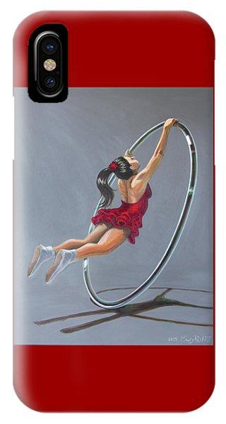 Supergirl On Cyr Wheel  IPhone Case
