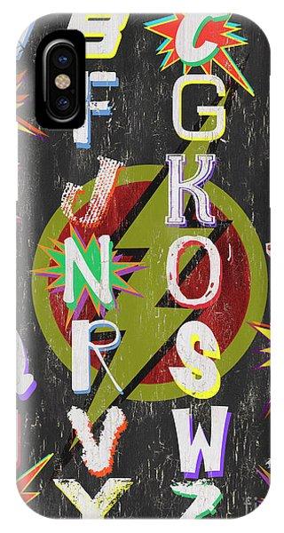 Vector iPhone Case - Superhero Alphabet by Debbie DeWitt