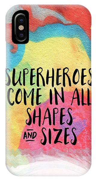 Inspirational iPhone Case - Superheroes- Inspirational Art By Linda Woods by Linda Woods