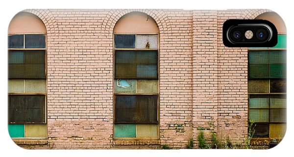 IPhone Case featuring the photograph Superior Plating Windows by Mike Evangelist