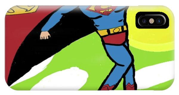 Superman In Flight Phone Case by John Lavernoich