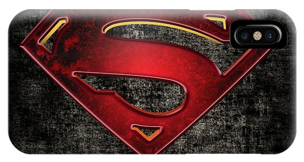 Superman Logo Digital Artwork IPhone Case