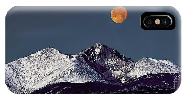 Supermoon Lunar Eclipse Over Longs Peak IPhone Case