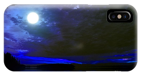 Supermoon Over Lake IPhone Case