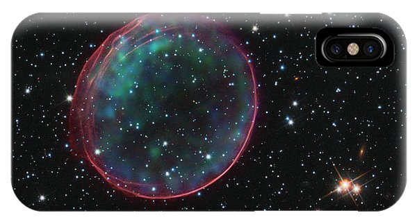 Supernova Bubble Resembles Holiday Ornament IPhone Case