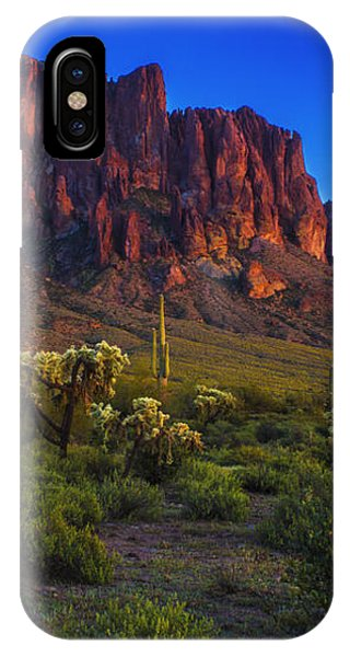 Superstition Mountain Sunset IPhone Case