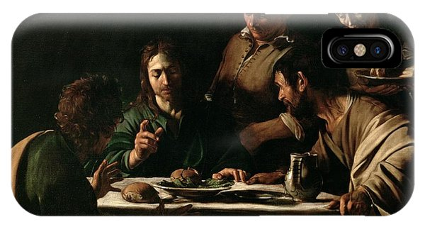 Life Of Christ iPhone Case - Supper At Emmaus by Michelangelo Merisi da Caravaggio