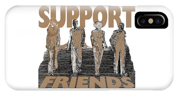IPhone Case featuring the digital art Support Friends by Lance Sheridan-Peel