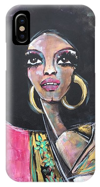 IPhone Case featuring the painting Supreme Love For Diana Ross by Laurie Maves ART