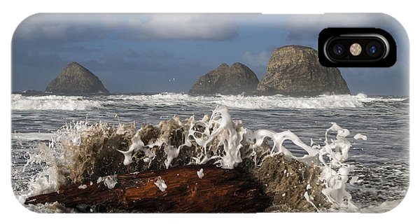 Surf And Three Arch Rocks IPhone Case