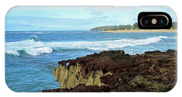 Surf At Mahaulepu Beach Hawaii IPhone Case
