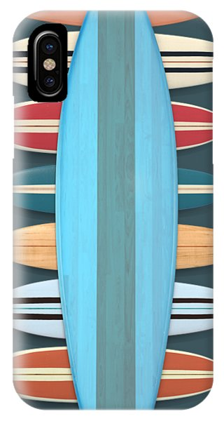 IPhone Case featuring the digital art Surf Boards 5 by Edward Fielding