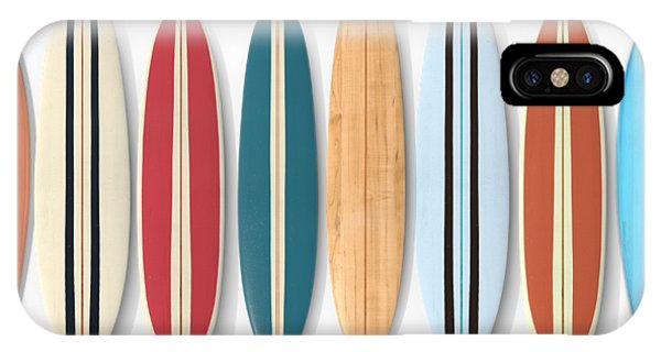 IPhone Case featuring the digital art Surf Boards Row by Edward Fielding