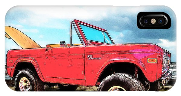 Surf Bronco Beyond The 4 Wheel Drive Only Sign Padre Island IPhone Case
