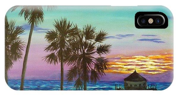 Surf City Sunset IPhone Case