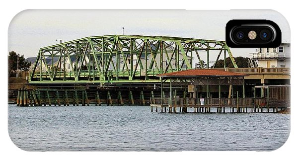 Surf City Swing Bridge IPhone Case