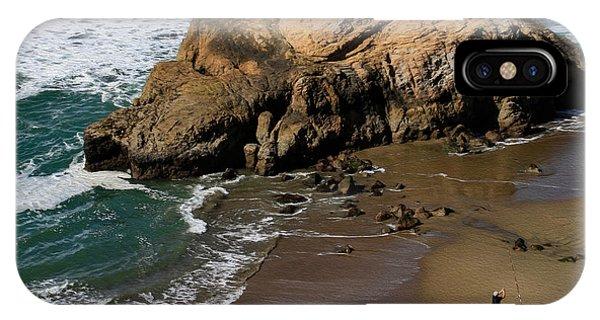 Surf Fishing At Ocean Beach IPhone Case