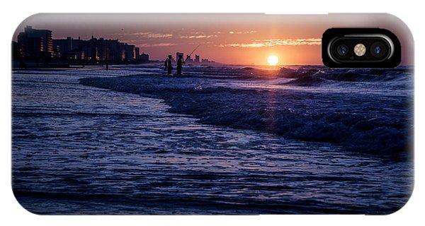 Surf Fishing At Sunrise IPhone Case