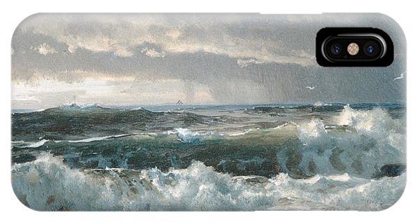 Surf On The Rocks IPhone Case