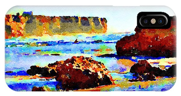 IPhone Case featuring the painting Surf The Headlands by Angela Treat Lyon
