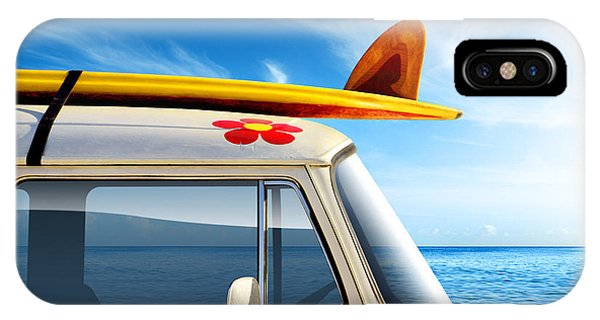 Sunny iPhone Case - Surf Van by Carlos Caetano