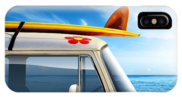 Sky iPhone Case - Surf Van by Carlos Caetano