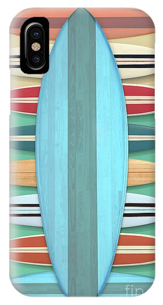 IPhone Case featuring the digital art Surfboards Green Blue Design by Edward Fielding