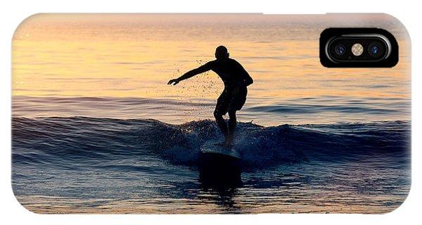 Surfer At Dusk IPhone Case