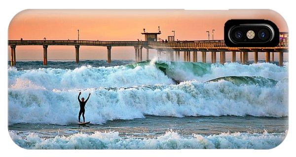Surfer Celebration IPhone Case