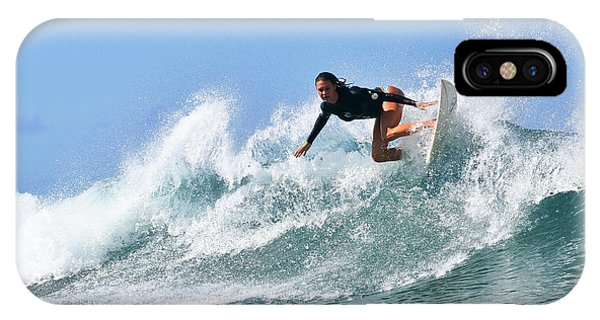 Surf iPhone Case - Surfer Girl At Bowls 5 by Paul Topp