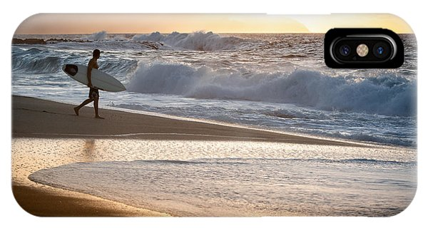 Surfer On Beach IPhone Case