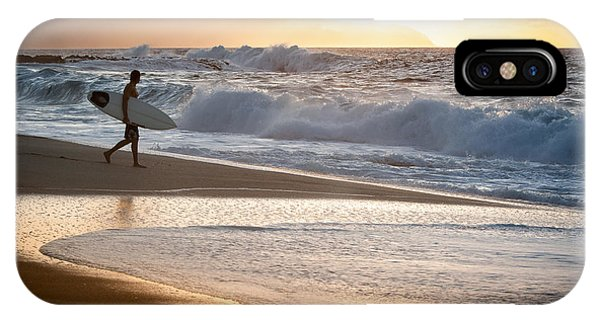 Surfer On Beach IPhone Case