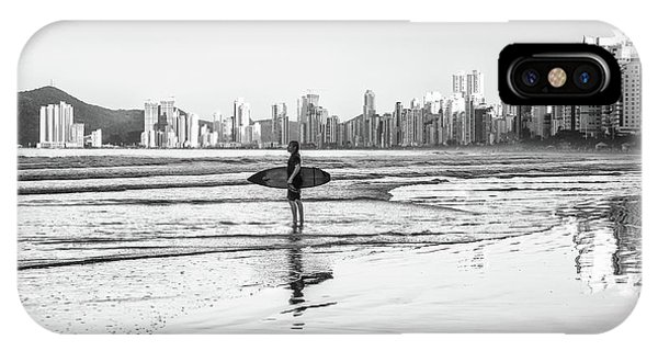 Surfer On The Beach IPhone Case