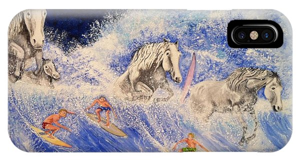 Surfing Horses IPhone Case