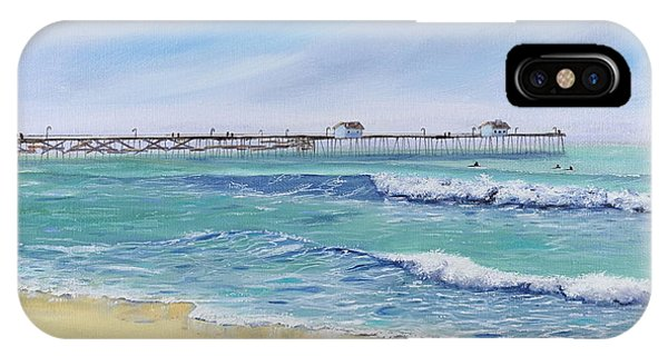 Surfing In San Clemente IPhone Case